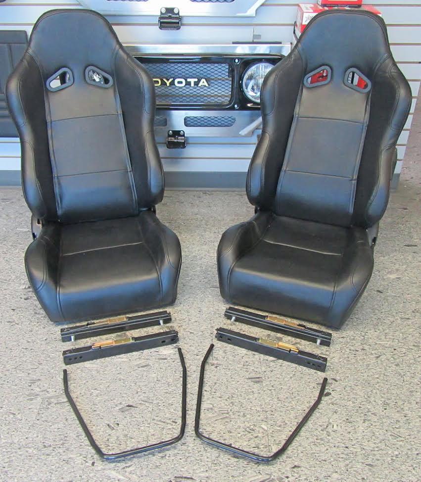 Pleasant Fj40 Fj60 Fj80 Bucket Seats With Double Locking Seat Sliders Cerullo Caraccident5 Cool Chair Designs And Ideas Caraccident5Info